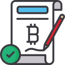 Agreement Bitcoin Currency Cryptocurrency Agreement Icon