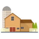 Farm Farmhouse Agriculture Building Icon