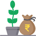 Agriculture Loan Finance Money Plant Icon