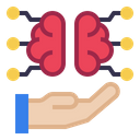 Hand Brain Technology Icon