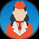 Air Hostess Stewardess Flight Attendant Icon