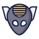 Alien Space Science Icon