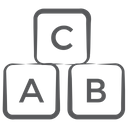 Alalphabetic Blocks Abc Block Education Icon
