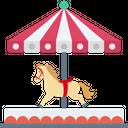 Amusement Park Carousel Fair Ride Icon