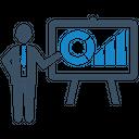Analytics Pie Chart Presentation Icon