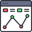 Analytics Online Analysis Online Analytics Icon