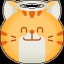 Angel Emoticon Cat Icon