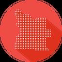 Angola Map Country Icon
