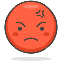 Angry Face Smiley Icon