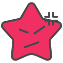 Angry Emoticon Star Icon