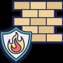 Antivirus Firewall Data Burn Internet Defense Icon