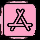 App Store Ios Technology Logo Social Media Logo Icon