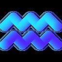 Aquarius Water Zodiac Icon