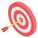 Archery Bow Arrow Dart Board Icon