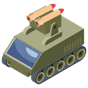 Military Panzer Armoured Tank Armoured Vehicle Icon