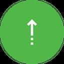 Arrow Up Straight Icon