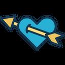 Arrow Cupid Heart Icon