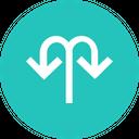 Arrow Arrows Merge Icon