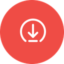 Arrow Elliepse Download Icon