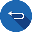 Arrow Left Round Icon