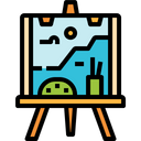 Painting Art Paint Canvas Tools Icon