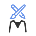 Artist Designer Web Designer Icon