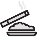 Ashtray Cigarette Nicotine Icon
