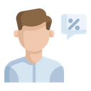 Discount Ask Customer Icon