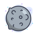 Asteroid Meteor Planet Icon