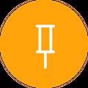Attach Pin Pointer Icon