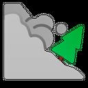 Avalanche Landslide Disaster Icon