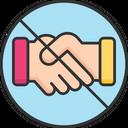 A Handshake Avoid Handshake No Handshake Icon