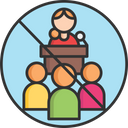 A Avoid Public Meetings Avoid Public Meeting Avoid Crowd Meeting Icon