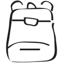 Backpack Bag Camp Icon