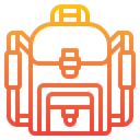 Backpack Bags School Icon