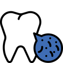 Bacteria in teeth Icon