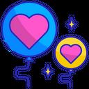 Balloon hearts Icon