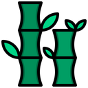 Bamboo Japan Plant Icon