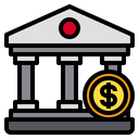 Bank Money Business Icon
