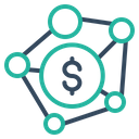 Connection Dollar Banking Icon