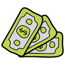 Money Stack Cash Finance Icon