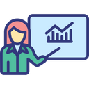 Bar Chart Analysis Business Analyst Business Presentation Icon