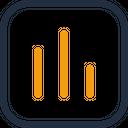 Bar Graph Statistics Analytics Icon