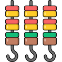 Barbecue Bbq Skewers Icon