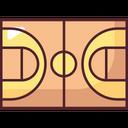 Basketball Court Basketball Sport Icon