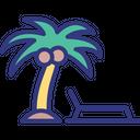 Beach Chair Lounge Icon