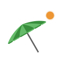 Beach Umbrella Cocktail Icon