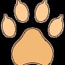 Bear Footprint Trace Icon