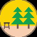 Park Bench Park Pine Tree Icon