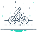 Bicycle Track Cyclist Icon